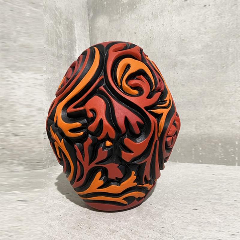CE2020_Van_Niekerk_AnereenCarved_Red_Orange_Vessel